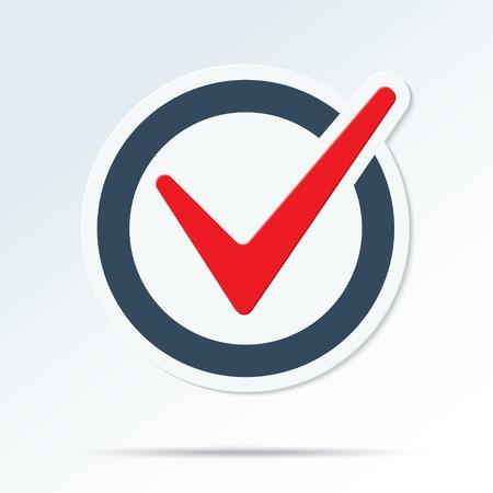 to tick: Compruebe símbolo de marca