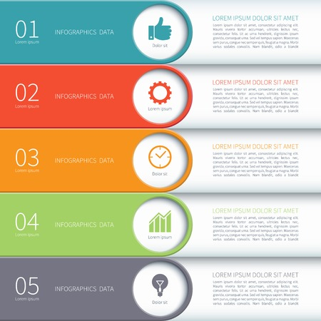 bar charts: Modern minimal colorful arrow infographics elements