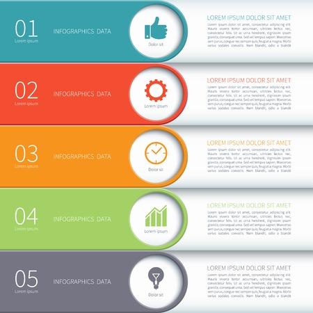 Modern minimal colorful arrow infographics elements