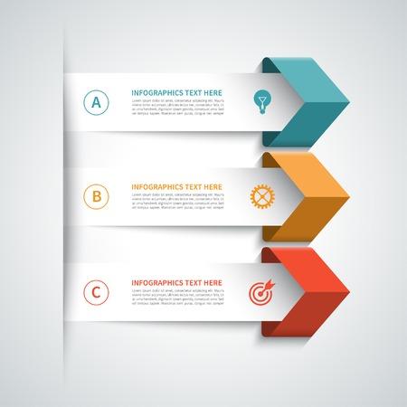 Modern arrow infographics elements