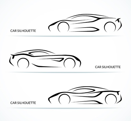 Set of modern car silhouettes Imagens - 32313731