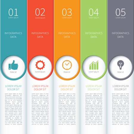 bar graph: Modern minimal colorful infographics elements Illustration