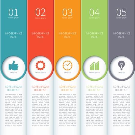 Moderne minimale kleurrijke infographics elementen