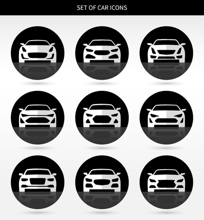 car icon: Vector set of car icons