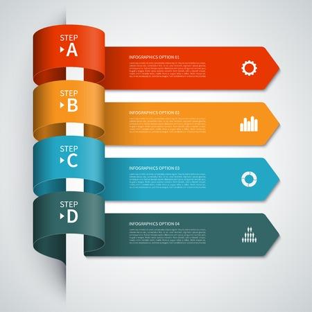 현대 화살표 인포 그래픽 요소