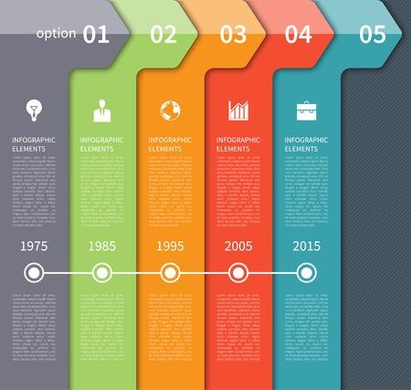 Modern timeline arrow infographics elements