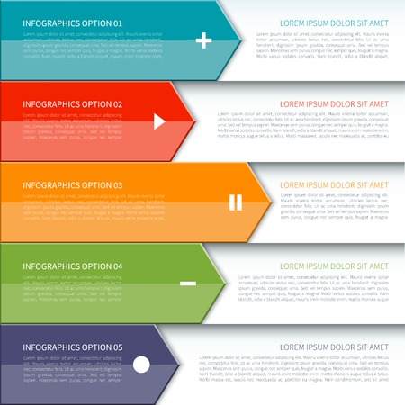 Modern arrow infographics elements Imagens - 35757904