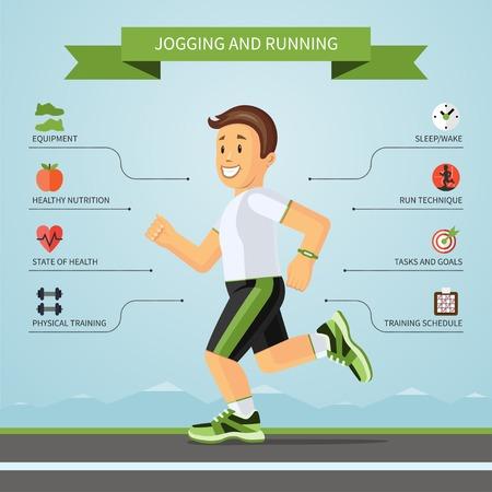 Infografía concepto de fitness. Ilustración vectorial
