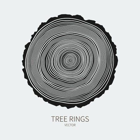 Vector tree rings conceptual background Ilustração