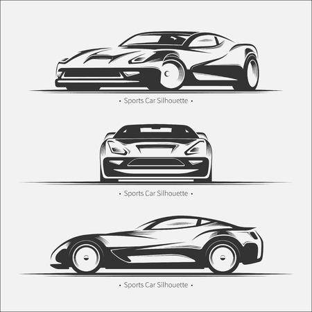 Set van moderne auto silhouetten.