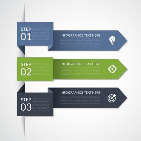 Modern arrow infographic elements