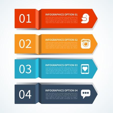 Modern arrow design template voor infographics Stock Illustratie