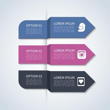 Modern arrow infographic elements Imagens - 38236299