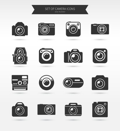 photo camera: Photo camera icon set