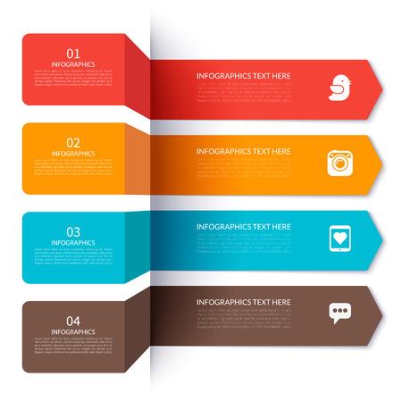 grafica de barras: Elementos de flecha modernos para la infografía
