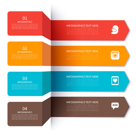 Moderne pijl elementen voor infographics