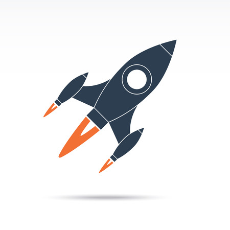 astronauts: Space rocket icon. Vector illustration Illustration