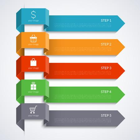 Modern pijl banner voor infographics