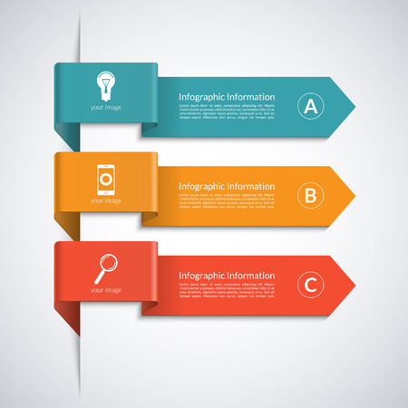 Modern arrow elements for business infographics