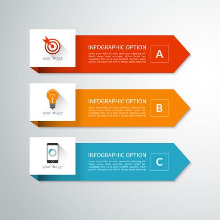 diagrama: Elementos de flecha mínimos modernos para la infografía Vectores