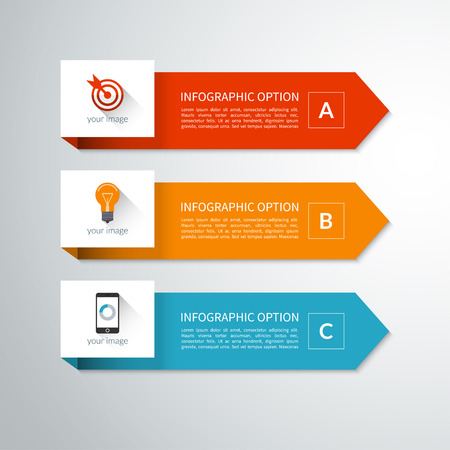 Modern minimal arrow elements for infographics Stock fotó - 39335071