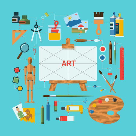 art piece: Flat design vector fine art concept Illustration
