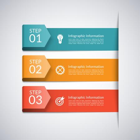 Moderne minimale pijl sjabloon voor zakelijke infographics Stock Illustratie