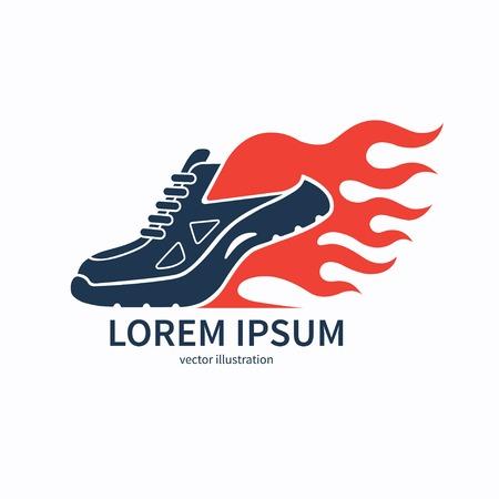 Speeding running shoe with fire