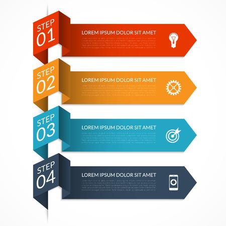 Modern minimal arrow infographic template Illustration