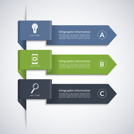phonographic: Modern arrow banner for business infographics Illustration