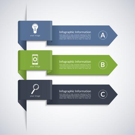 Modern arrow banner for business infographics Ilustração