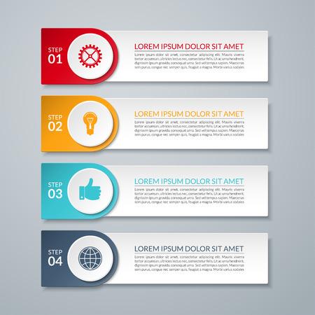 インフォ グラフィックのデザイン番号オプション テンプレート  イラスト・ベクター素材