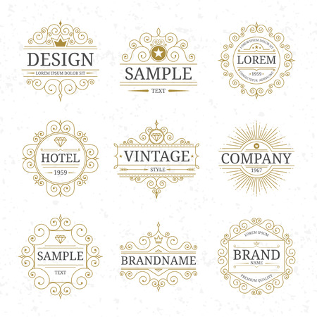 Set van vintage luxe logo templates