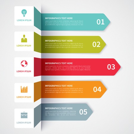 bars: Modern minimalistic infographics options banner. Vector illustration