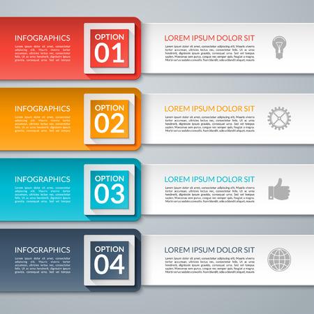 Zakelijke infographic design template. Vector illustratie. Kan gebruikt worden voor workflow lay-out, diagram, aantal opties, opvoeren opties, webdesign