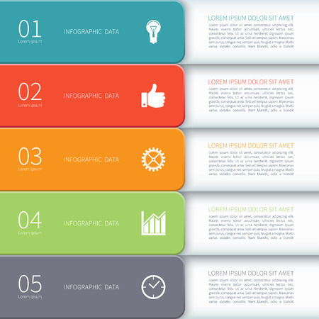 Modern minimal design business infographic template. Vector illustration. Can be used for workflow layout, brochure, presentation, chart, number and step options, web design