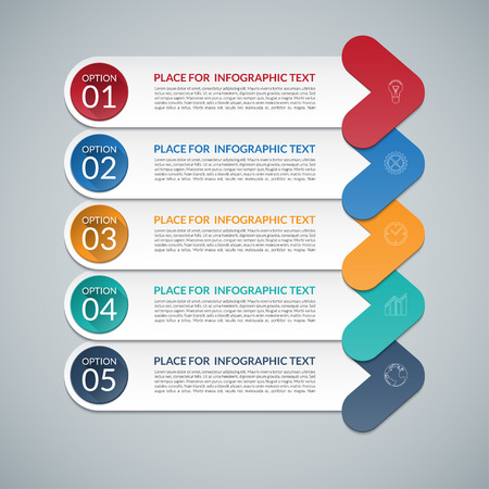 stage chart: Modern arrow infographic design template. 5 steps, parts, options, stages abstract vector background. Can be used for diagram, graph, chart, report, workflow layout, business presentation, web design