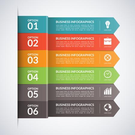 flechas: Arrow infograf�a negocios template.5 pasos, piezas, opciones, etapas de fondo abstracto del vector