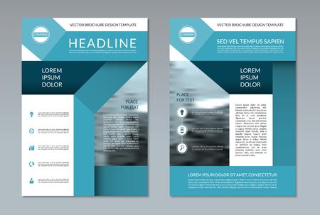 Broschüre Layout-Vorlage. A4-Format. Vorder- Und Rückseite. Kann Für ...