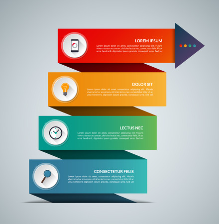 Business growth infographic concept banner. Vector template with 4 options. Can be used for web, diagram, graph, chart, report, step by step infographics