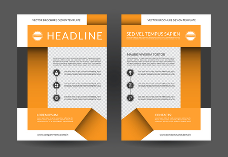 Annual Report Brochure Flyer Layout Template A4 Size Front
