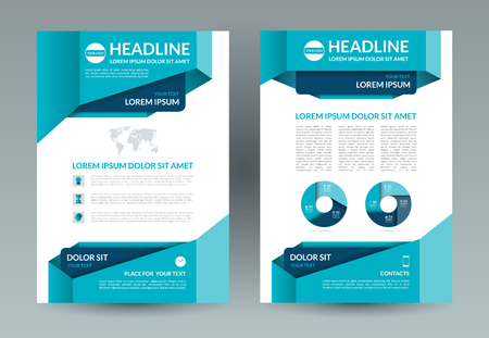 handout: Business brochure layout template. A4 size. Front and back page Illustration