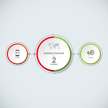 minimalistic: Infographic circle. Modern minimalistic template with 2 options.