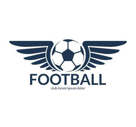soccer goal: Football soccer ball with wings. Vector logo or symbol Illustration