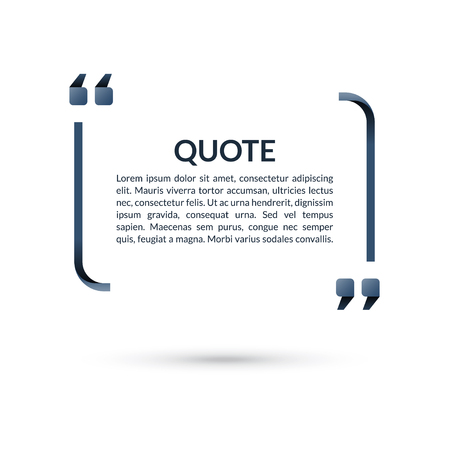 Quote box. Speech bubble. Blank frame for citations. Text in brackets. Vector illustration Imagens - 82821287