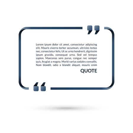 Quote box. Dymka. Puste ramki cytatów. Tekst w nawiasach. Ilustracji wektorowych Ilustracje wektorowe
