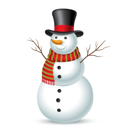 Christmas snowman. Vector illustration