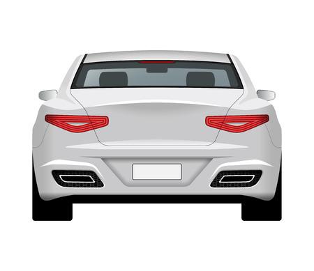 Modern generic car. Rear view