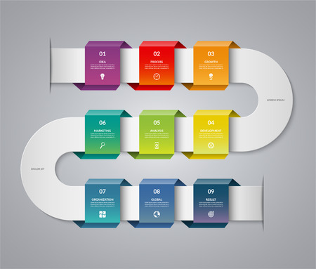 Infographic timeline template vector illustration