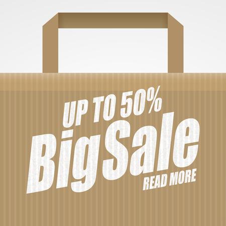50 off: Super sale . Shopping bag. Sale background. Big sale. Sale tag. Sale poster. Sale . Super Sale and special offer. 50% off Illustration